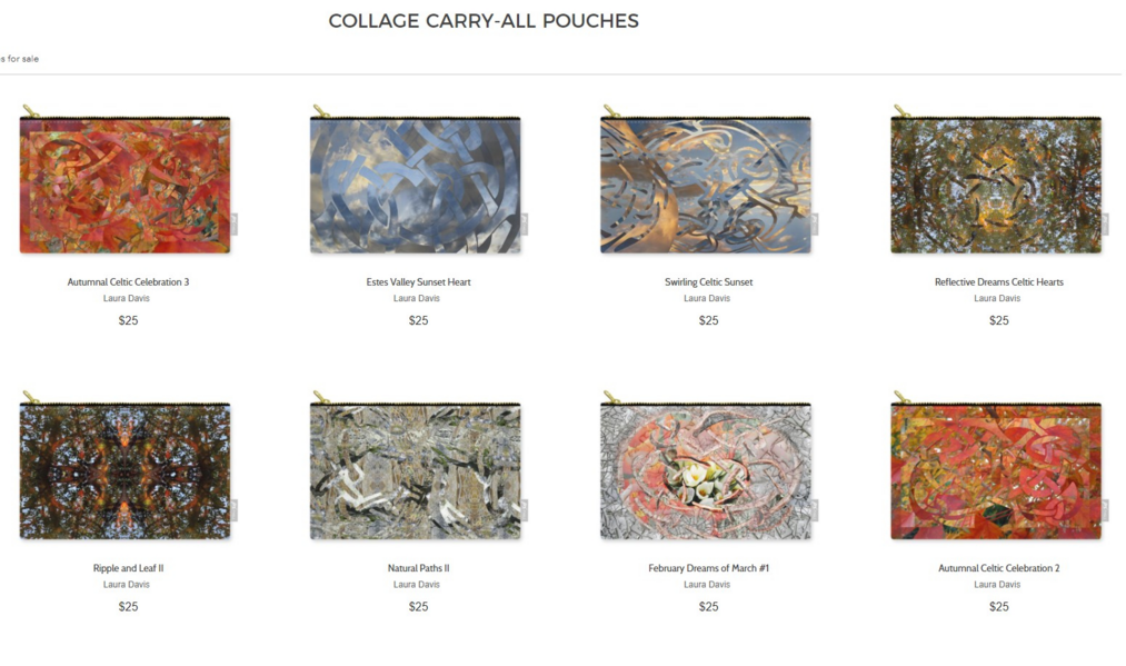 Zipper Pouches from Fine Art Photo & Collage by Laura Davis