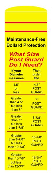 What size Post Guard do you need