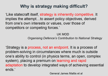 Why is strategy making difficult - some more thoughts