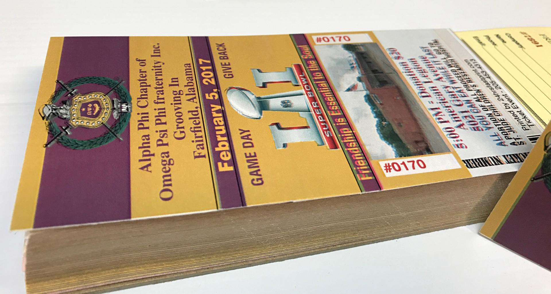 tickets raffle hrs fast print in birmingham al