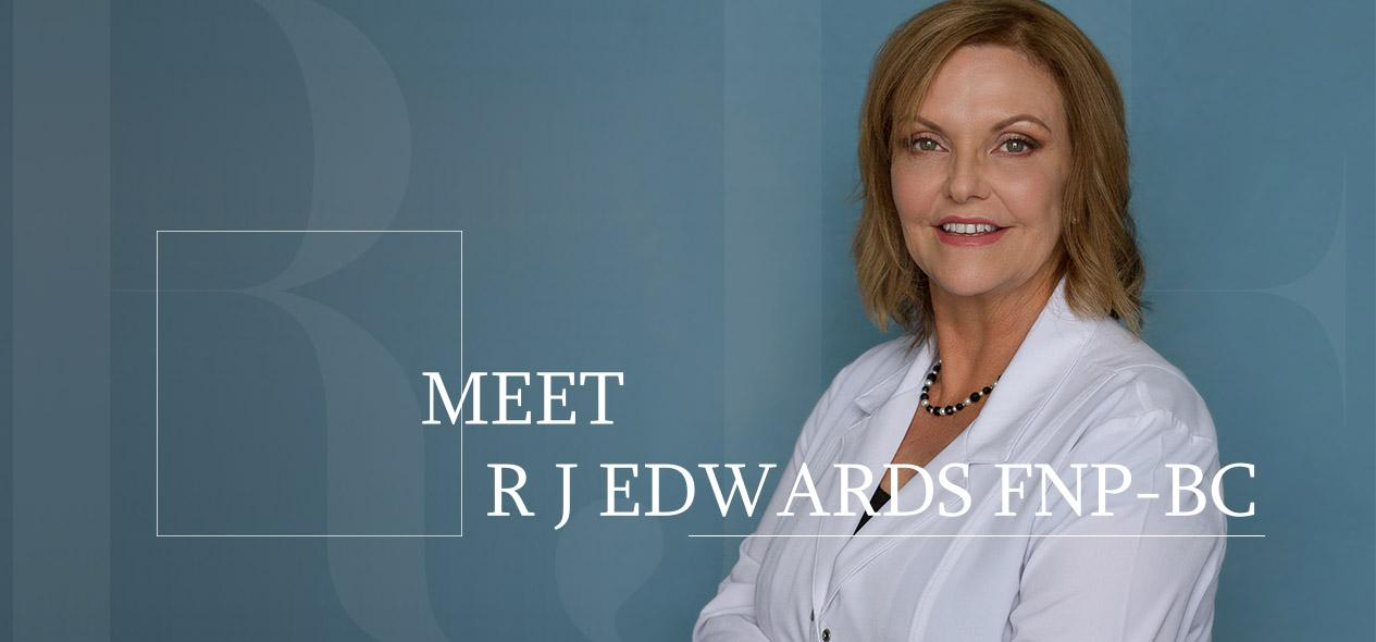 Jessie Edwards smiling in lab coat. Find out more about R. Jessie Edwards MN, FNP-BC.
