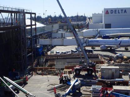 Photo of In Progress Construction At SeaTac Airport