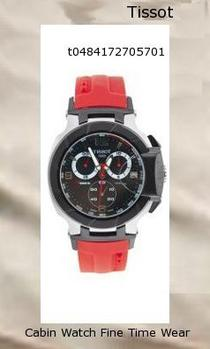 Watch Information Brand, Seller, or Collection Name Tissot Model number T0484172705701 Part Number T0484172705701 Model Year 2010 Item Shape Round Dial window material type Anti reflective sapphire Display Type Analog Clasp fold-over-clasp-with-push-button. Case material Stainless Steel Case diameter 45 millimeters Case Thickness 12 millimeters Band Material Rubber Band length Mens-Standard Band width 21 millimeters Band Color Red Dial color Black Bezel material Stainless Steel Bezel function Stationary Calendar Date Special features Chronograph Item weight 4.64 Ounces Movement Swiss quartz Water resistant depth 330 Feet