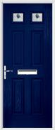 4 Panel 2 Square Composite Door fusion art glass