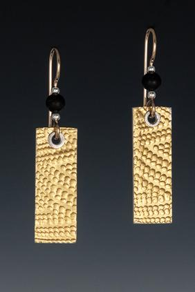 Carol Holaday- Basket Design earrings-23k keum-boo