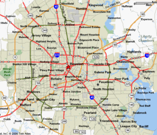 Houston map; Keystone Contracting Group Houston location; Keystone Contracting Group locations; Houston city map; roofing contractors; roof contractors in Houston