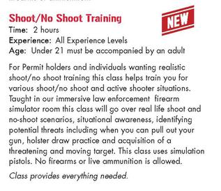 Shoot No Shoot Training Osseo Gun Club