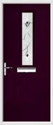 1 Square Composite Door fusion art glass