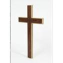Maple and black walnut contemporary cross