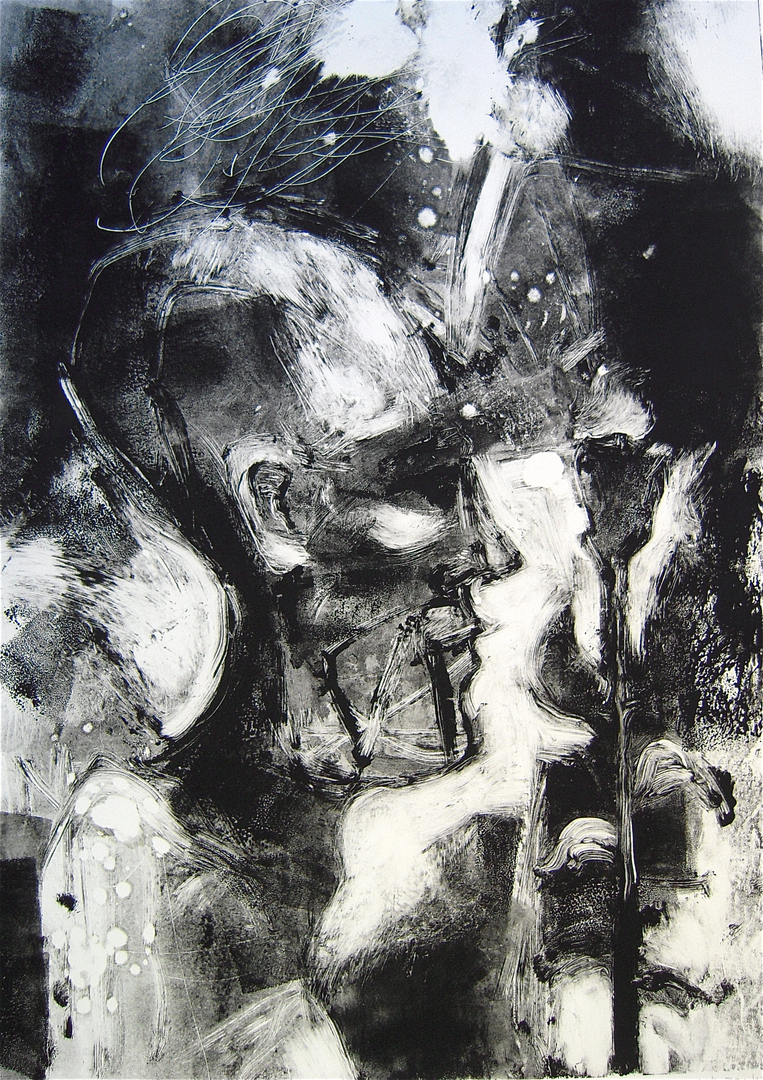 Black and white monotypes