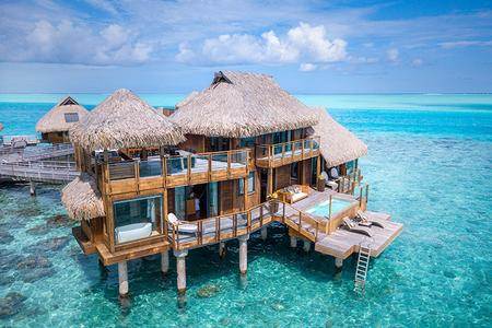 Conrad Bora Bora Nui Resort: Overview of overwater bungalow