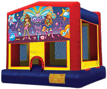 girl power bounce house for rental