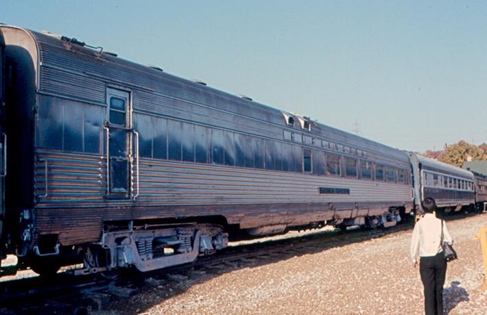 The Burlington Zephyr dining car Silver Spoon.