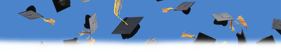 mortar boards thrown up in the air
