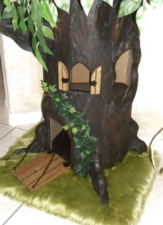 Fantasy Cat Tree with Drawbridge Door