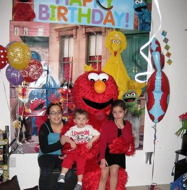 Elmo red monster-dallas texas-cool party characters