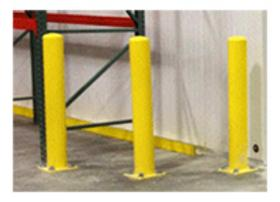 Yellow Post Guard Bolt Down Bollards