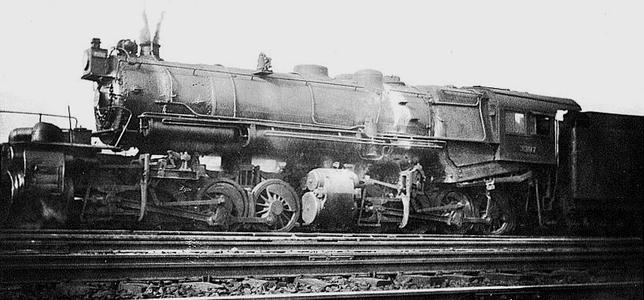 A scarce photograph of the lone PRR Class CC1s 0-8-8-0 experimental Steam Locomotive.