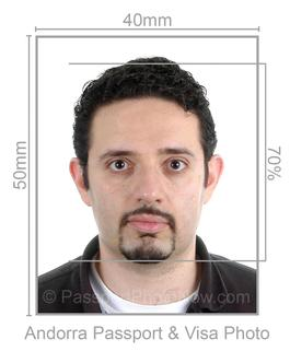Andorra Passport and Visa Photo