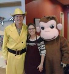 Man In The Yellow Hat & Curious George style Party Characters