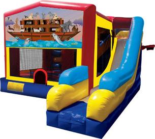 www.infusioninflatables.com-noahs-ark-bounce-house-combo