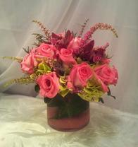 NB-Sweet and Sassy Roses, Dendrobium Orchids, and Hydrangea.