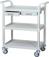 3 shelf Taiwan Medial carts, hospital trolley manufacturer