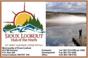 Contact Vicki Blanchard, Sioux Lookout Economic Development Commission Manager