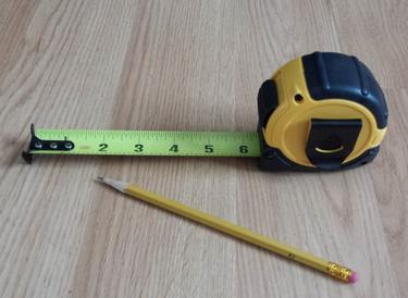 Photo of tape measure and pencil