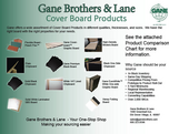 Cover Board Comparison Chart