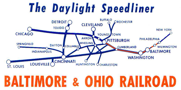 Route Map of the Daylight Speedliner.