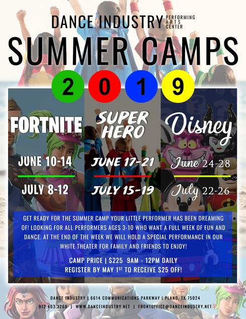 2019 SUMMER CAMPS