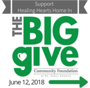 Support Healing Hearts Home in The Big Give June 12, 2018