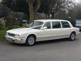 Ivory Daimler Sovereign 7 passenger limousine wedding car - Essex wedding Cars