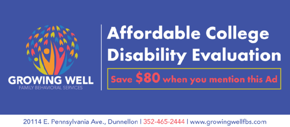Affordability College Disability Evaluation