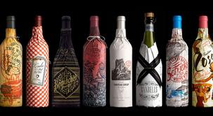 Custom Printed Wine Bottle paper Wrap