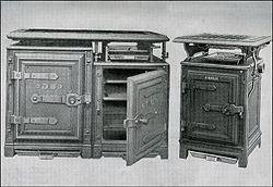 Early gas stoves produced by Windsor. From Mrs Beeton's Book of Household Management, 1904.