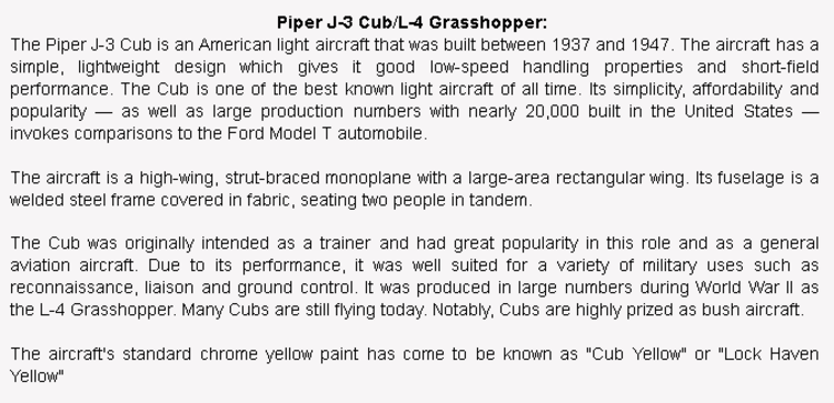 wiki background for 4D model of Piper J-3 Cub