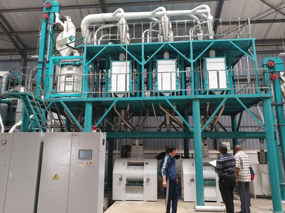 50 ton per day maize flour milling machine