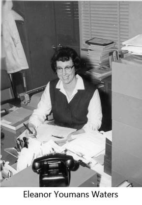 Eleanor Waters at her desk