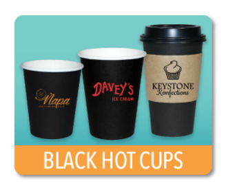 Black Paper Hot Cups