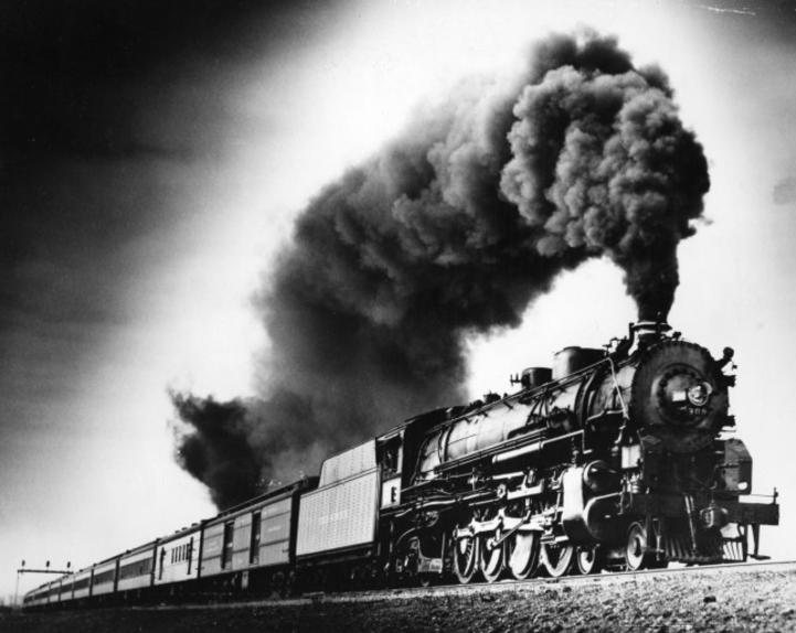 The Sunshine Special near Forney, Texas in 1929.