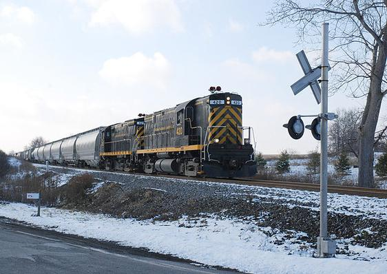 Northbound Livonia, Avon and Lakeville Road Freight in 2007.