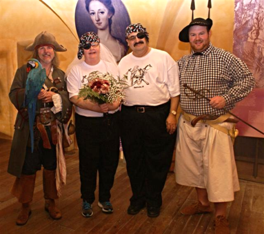 Charleston pirate wedding vow renewal