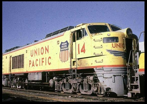 ​UP GTEL No. 14 in the deadline at Salt Lake City, August, 1976.