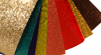 glitter, adhesive backed glitter, event supply, prop material, special events, special event supply, staging material, staging supply