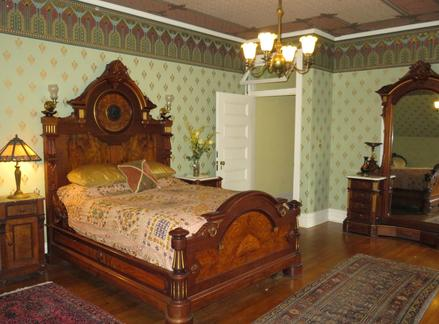 The Governess' Quarters, one of the Bed and Breakfast rooms at Rockcliffe Mansion, Hannibal Missouri