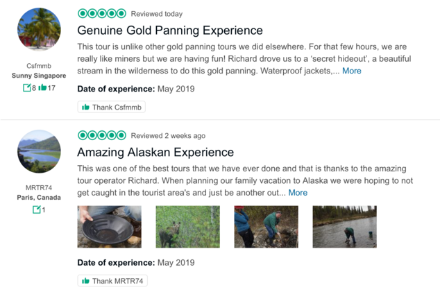 Denali Gold Tours, Trip Advisor