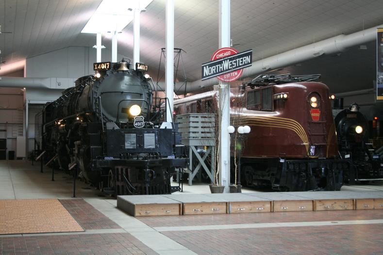 Interior of the Frederick J. Lenfestey Center at the National Railroad Museum.