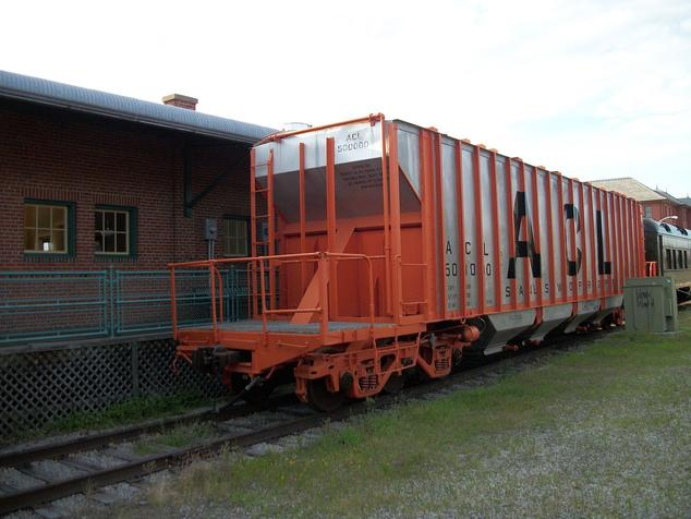 An Atlantic Coast Line Railroad Stainless Whopper Hopper.